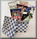 Kosher for Passover Blue and Silver Basket